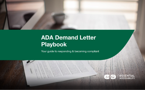 Image of ADA Demand Letter Playbook eBook Cover