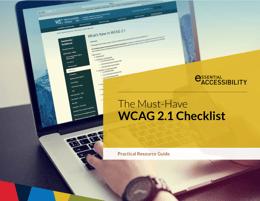 WCAG 2.1 Checklist cover image