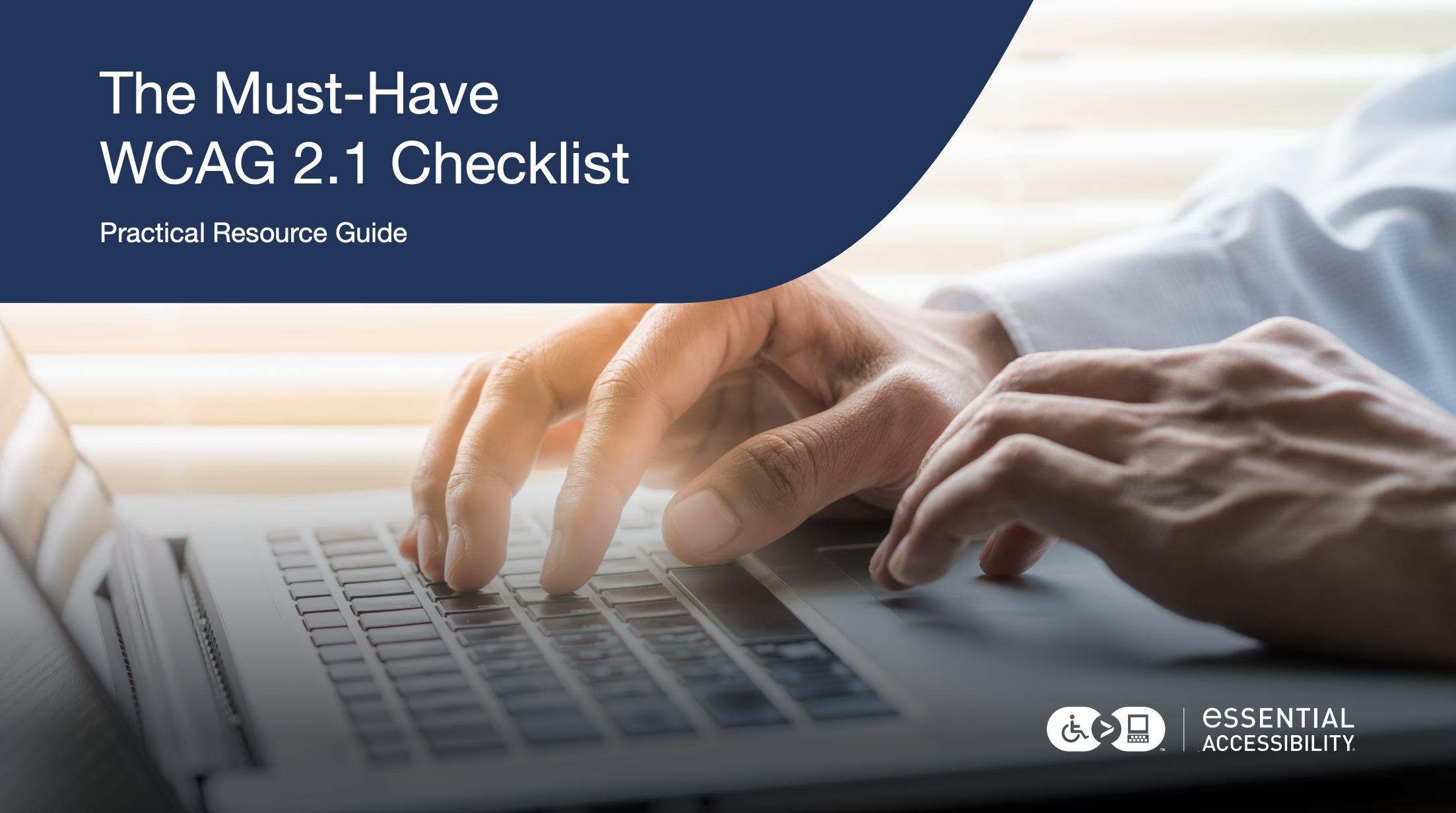WCAG 2.1 Checklist