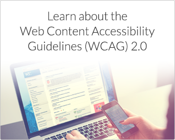 Learn about the Web Content Accessibility Guidelines WCAG 2.0
