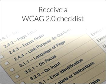 Receive a WCAG 2.0 checklist