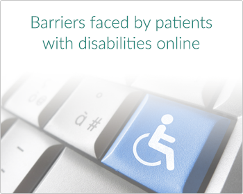 Barriers faced by patients with disabilities online
